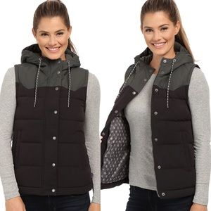 Patagonia💕Bivy Goose Down Black Hooded Lined Vest